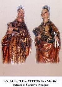 sveta Aciskl in Viktorija - brat in sestra, mučenca